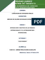 Mercado de valores nacionales e internacionales