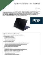 Restaurar Um Computador Acer Para o Seu Estado de Fábrica