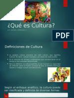 1. Qué Es Cultura