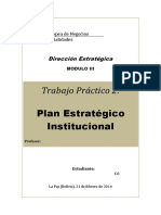 Strategic Plan Tropical Agricultural Reserach