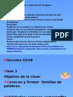 Clase 3, Lenguaje 03 de Agosto