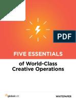 5 Essentials of World Class Creative Operations