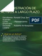Administración de Activos a Largo Plazo
