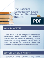 The National Competency-Based Teacher Standards (NCBTS)