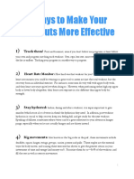 9 Ways to Make Your Workouts More Effective