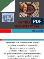 La Terapia Transpersonal - Aspectos Hleon