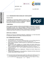 Organización de Fondo Documental