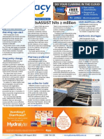 Pharmacy Daily for Thu 11 Aug 2016 - MedsASSIST hits 2 million, Redesign Project on target, Drug policy change, Travel Specials and much more
