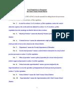 Draft Regulations for Reorganization Plan