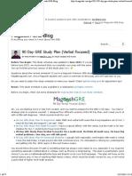 90 Day GRE Study Plan (Verbal Focused) - Magoosh GRE Blog