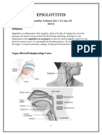 Epiglottitis Report