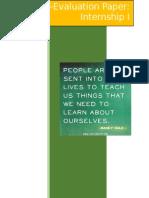 self-reflection paper  2  internship i