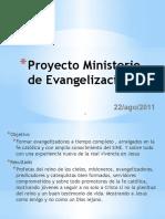 Proyecto Ministerio de Evangelización