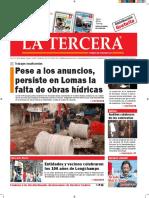 Diario La Tercera 11.08.2016