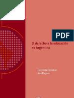 El derecho a la educación en Argentina