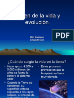 Origen de La Vida y Evolución
