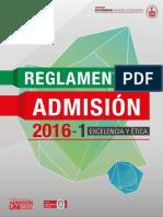 Reglamento de Admision 2016-1hgjkghkghkghkgchkgh