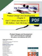 Chapter Five (Identifying Customer Needs)