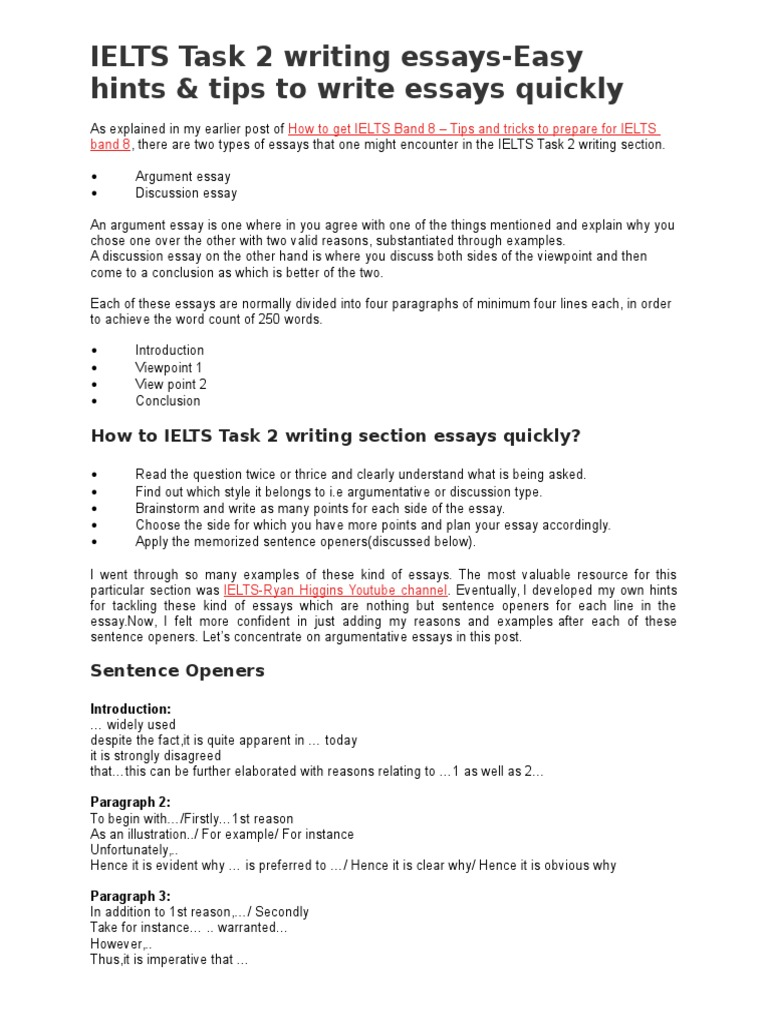 ielts task writing essays easy hints tips to write essays ielts task 2 writing essays easy hints tips to write essays quickly teachers self improvement