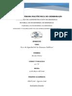 Ley de Equidad de las Finanzas Publicas - Análisis y Valoración Operaciones Financieras