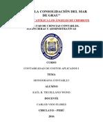 Contabilidad de Costos Aplicados I - Monografia Contable I