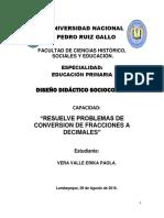 Resuelve Problemas de Conversion de Fracciones a Decimales Paola Arreglado