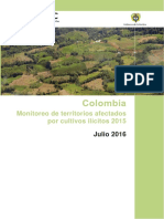 Monitoreo de Terrenos Afectados por Cultivos Ilícitos 2015