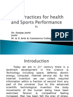 Yogic Practices for Health and Sports Performance