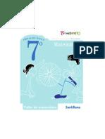 cuadernillo de ejercicios matemática séptimo