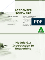 Module 1 - Introduction to Networking