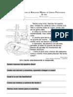Ficha de avaliação mensal de Língua Portuguesa