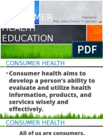 Lesson 2 Consumer Health Education