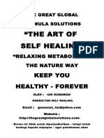 Buku the Art of Self Healing - The Nature Way