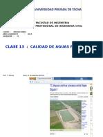 22092014 Clase 13 Calidad de Aguas