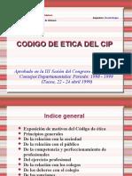 codigo etica cip