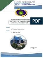 Glosario de Terminología de La Metodologia de Investigación