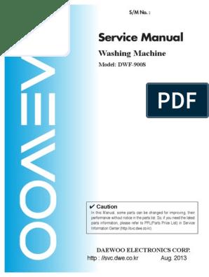 Daewoo DWF 900S | Washing Machine | Clutch
