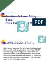 Carbon & Low Alloy Steel Flux Core