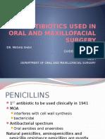121770821 Antibiotics Used in Oral and Maxillofacial Surgery1 Pptx
