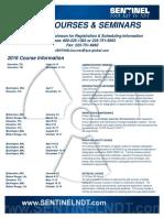2016 Course Registration Form