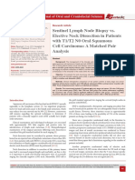 Sentinel Lymph Node Biopsy vs. Elective Neck Dissection in Patients with T1/T2 N0 Oral Squamous Cell Carcinoma