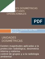 Unidades Dosimétricas y Magnitudes Operacionales