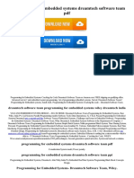 Programming for Embedded Systems Dreamtech Software Team PDF
