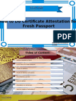 How to Do Certificate Attestation for Fresh Passport