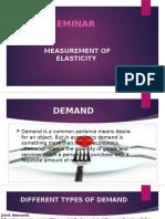 Measurement of Elasticity Ppt
