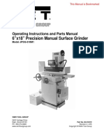 JET Surface Grinder Operating Manual Parts List M-414519 JPSG-618M1