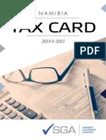 2015 SGA Tax Card