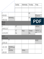 timetable for parents