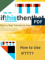 IFTTT Step by Step Tutorials