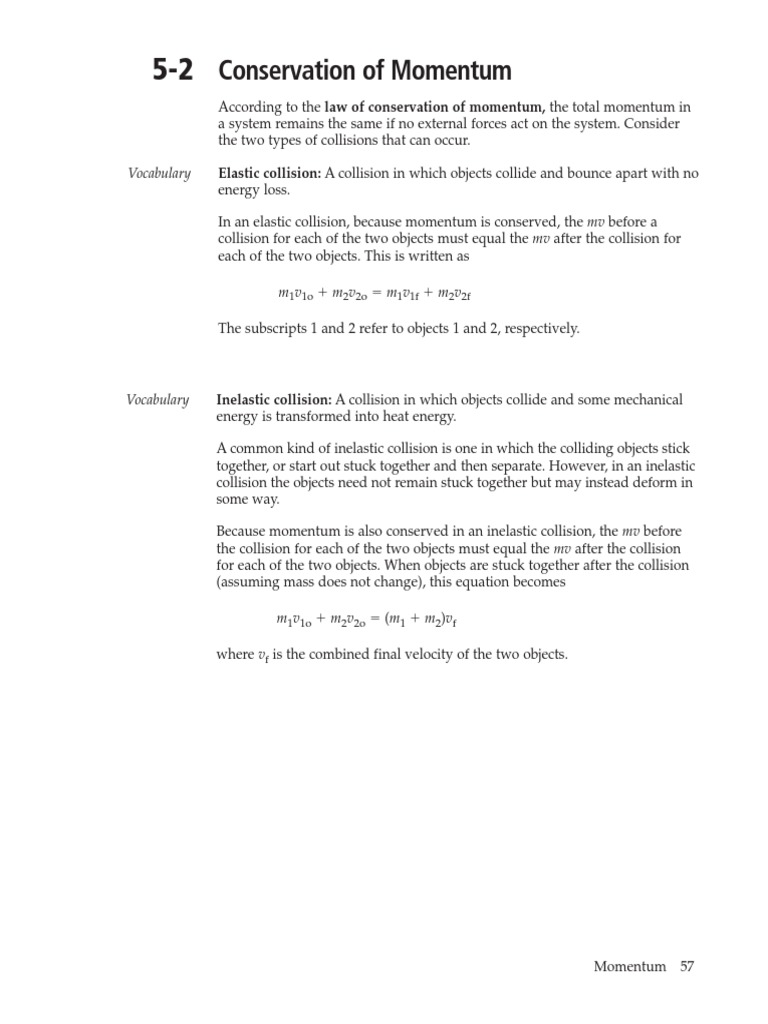 Uncategorized Worksheet Conservation Of Momentum conservation of momentum worksheet answers collision momentum